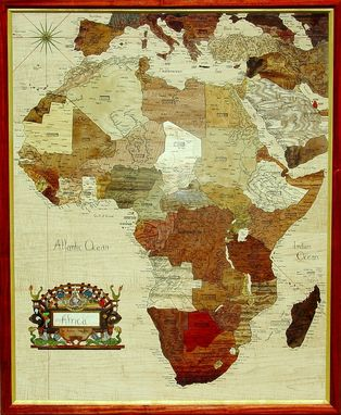 Custom Made Wooden Map Of Africa