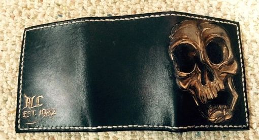Custom Made Men's Tri Fold Skull Wallet