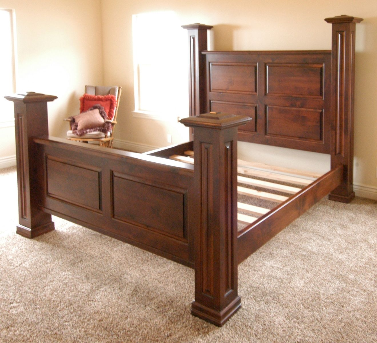 Custom Made Newel Post Bed by Terry\'s Fine Woodworking | CustomMade.com