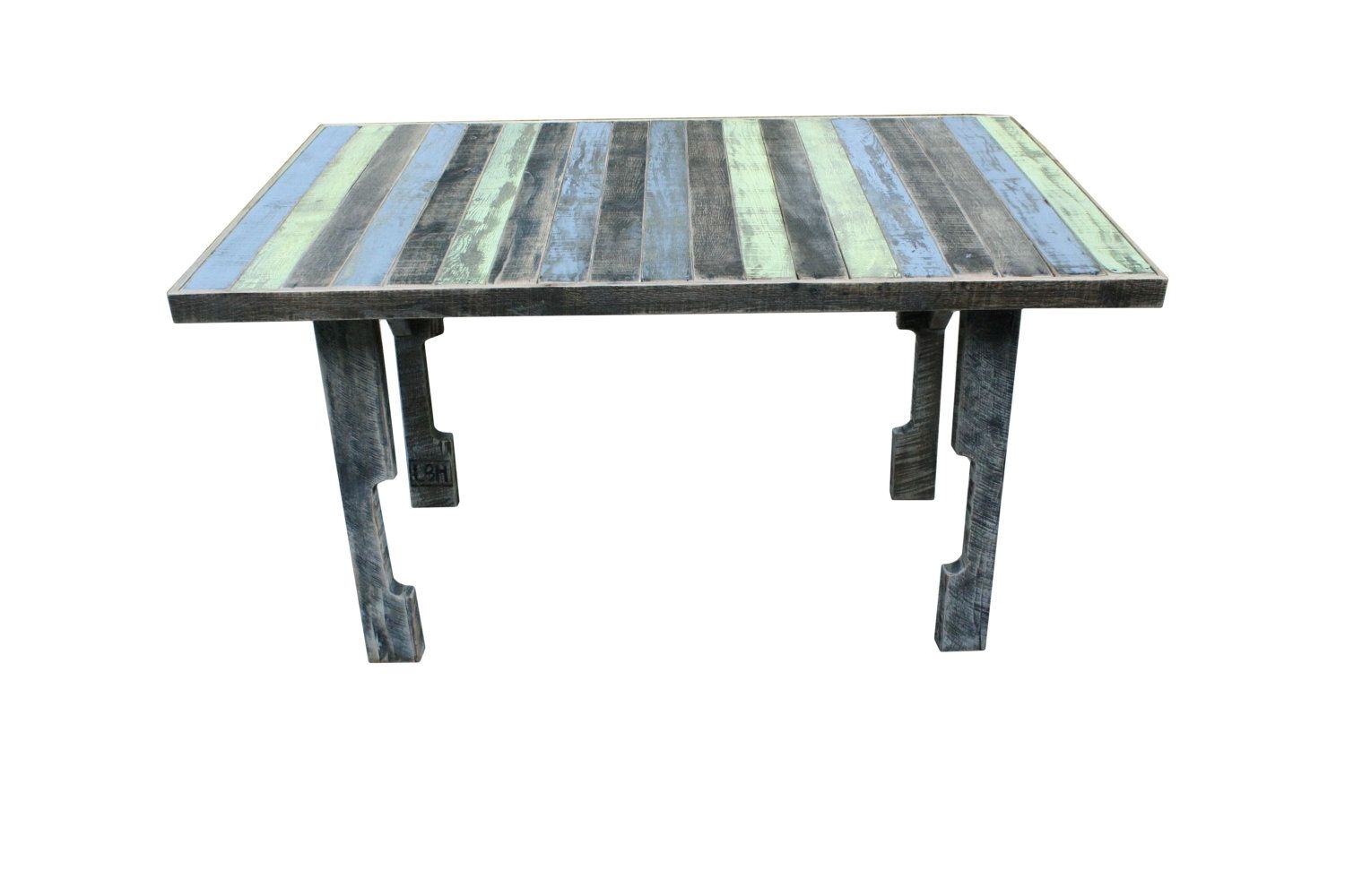 Custom pallet wood dining table savannah style by little for Pallet dining table