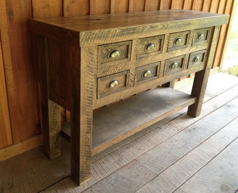 Custom Made Oak Sideboard Tables