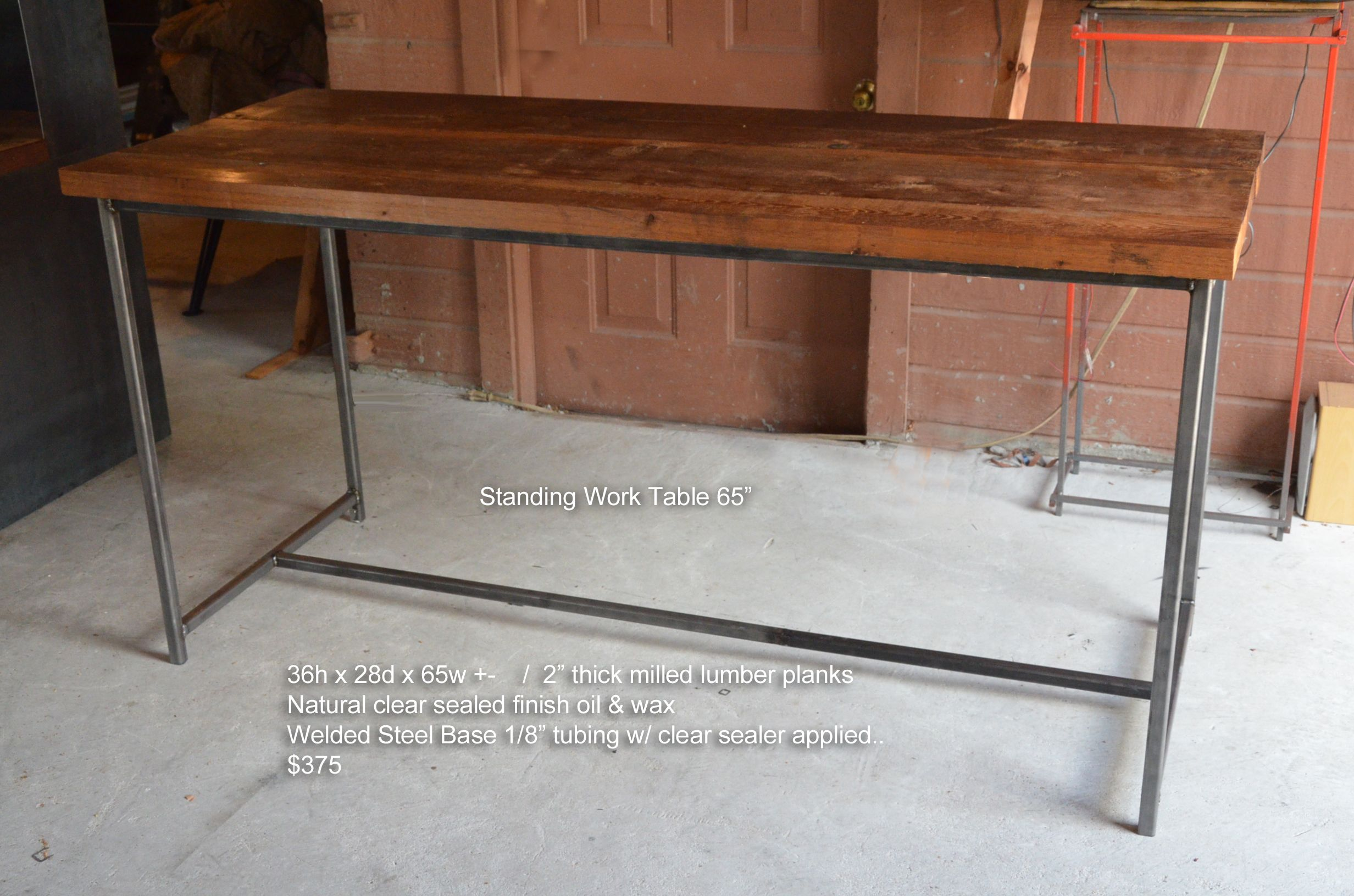 Custom Made Standing Work Desk Table