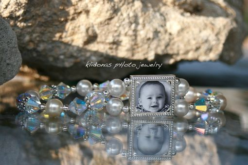 Custom Made Photo Bracelet, Wedding Bracelet, Brides Bracelet, Mother Of Bride And Groom Bracelet