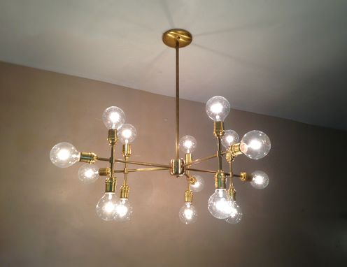 Custom Made Modern Contemporary Light Piano Light - Multiple Light Edison Bulb Chandelier Lamp