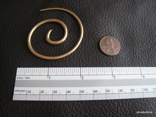 Custom Made Bronze Spiral Shawl Pin Large