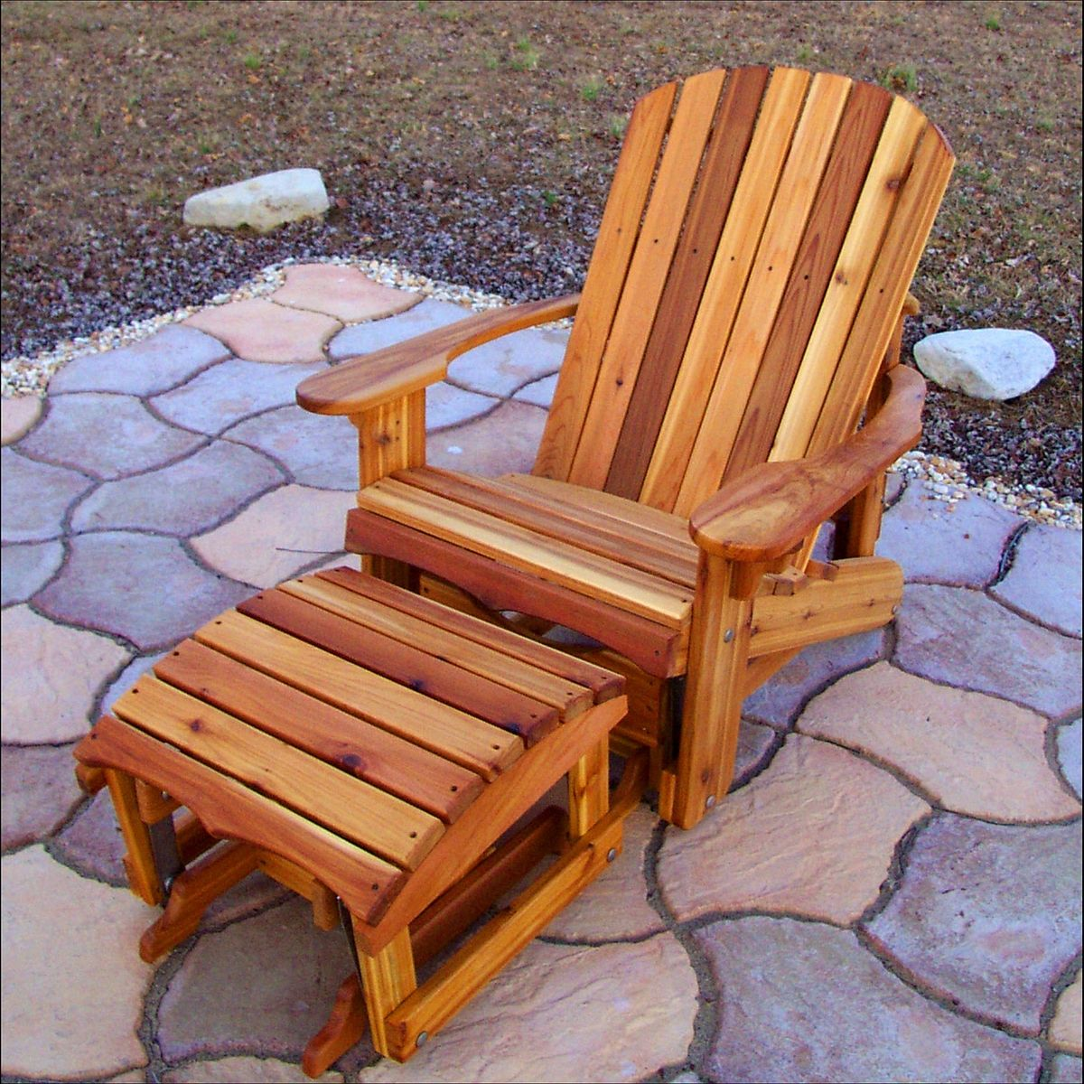 handmade adirondack chairs crafted western cedar wide adirondack glider with 8314