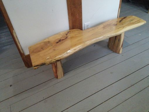 Custom Made Custom Live Edge Spalted Maple Coffee Table