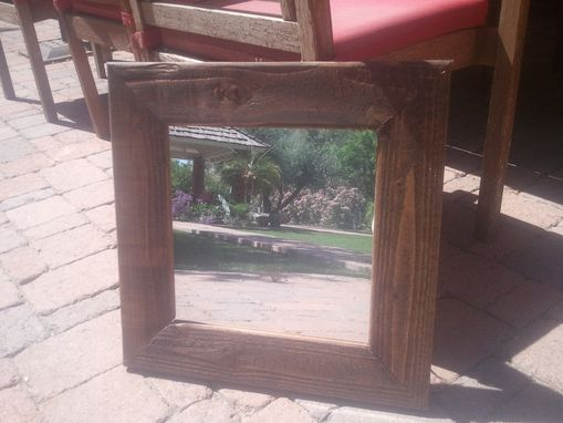 Custom Made Mirror In Stained Doug Fir Frame