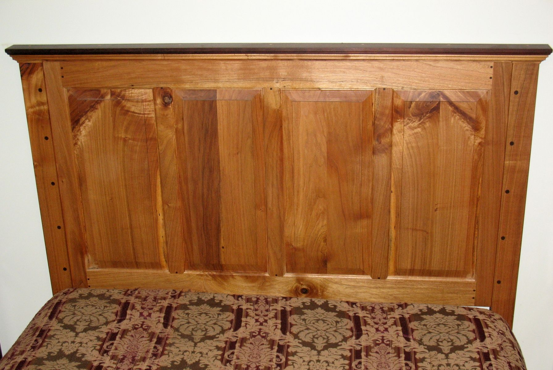 Custom Raised Panel Headboard For Queen Size Bed By White