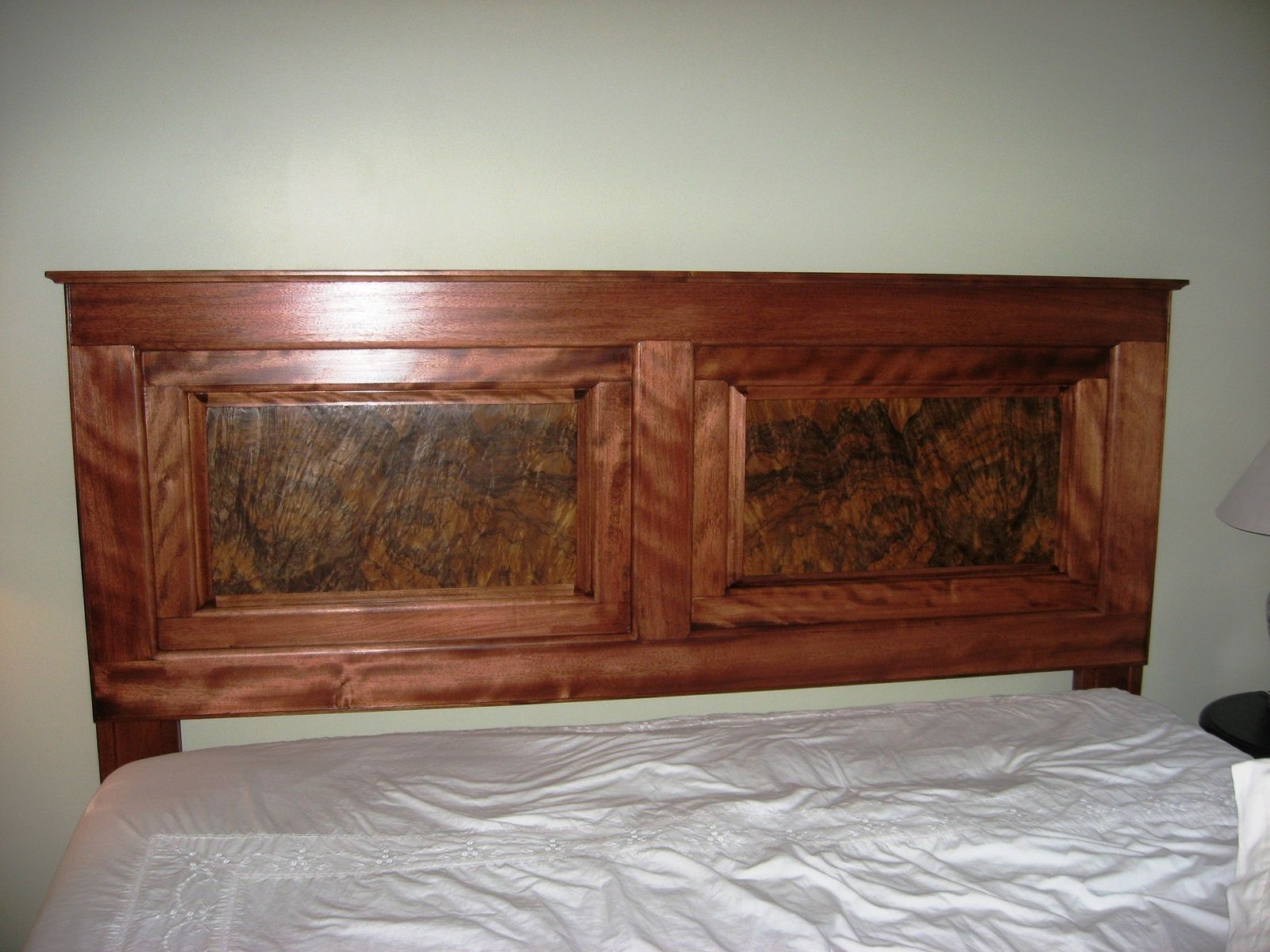 Custom Mahogany Walnut Buryl Headboard By Yoder Furniture