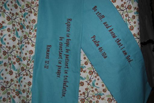 Custom Made Pillow Cases With Encouraging Scripture At Opening