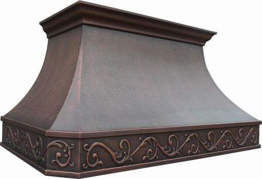 Custom Made Celtic Copper Range Hood 36""