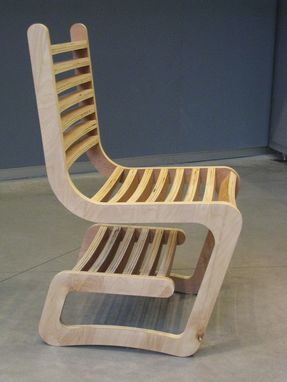 Custom Made Desk Chair With Integrated Shelf