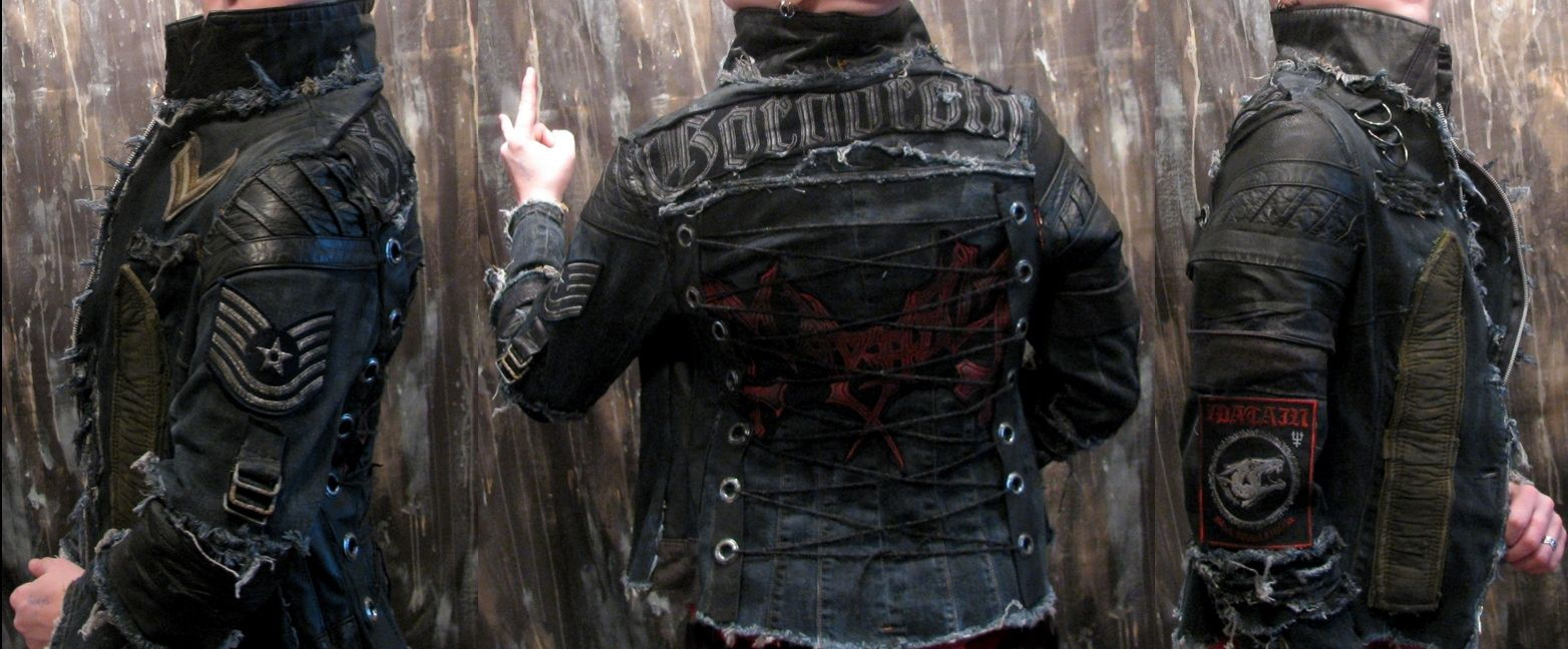 Hand Crafted Custom Jacket Rock Metal Punk Stage Rockstar Leather