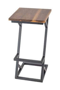 Custom Made Heavy Duty Wood And Steel Barstool