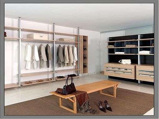 Custom Made Closet Aluminum And Wood