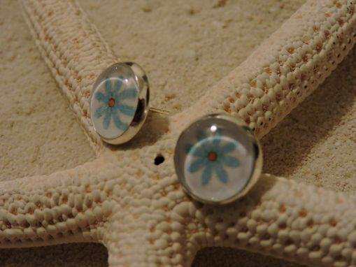 Custom Made Sterling Silver Plated Custom Ear Post Earrings