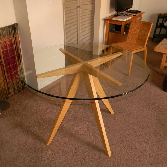 Hand Made Ibi\'s Table Base For Glass Top Dining Table by Antikea ...