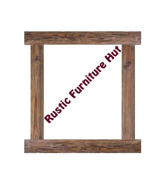 Custom Made Rustic Reclaimed Wood Wall Mirror / Picture Frame By Rustic Furniture Hut