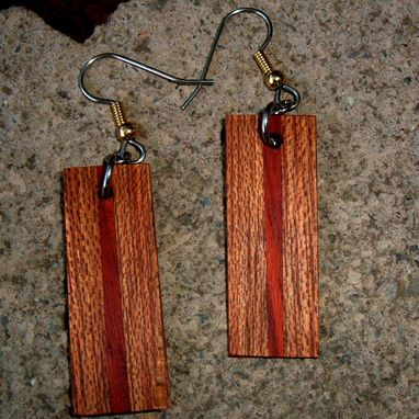 Custom Made Natural Wood Earrings Of Hububalli And Mora..L019