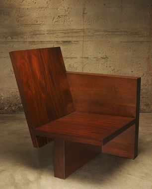 Custom Made Block & Slab Cantilever Chair