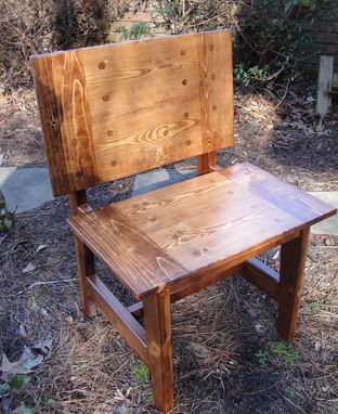 Custom Made R2 Custom Farm Door Chair Or Bench In Variable Widths And Finishs