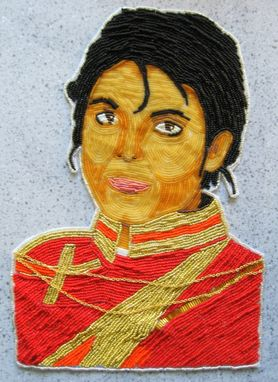 Custom Made Commission Michael Jackson Portrait In Beads!