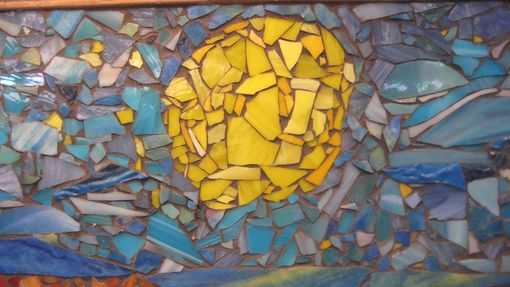 Custom Made Sun Shining On A Bright Sunny Day - Glass Mosaic