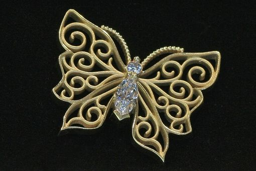 Custom Made 18 Kt Butterfly