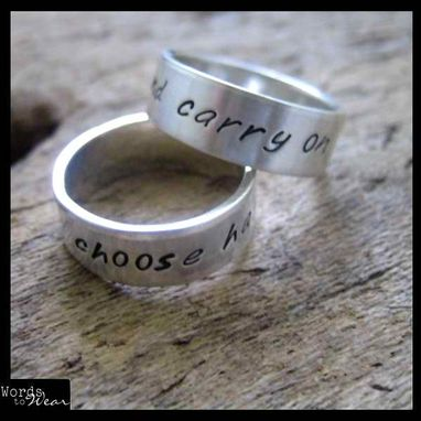 Custom Made Custom Hand Stamped Personalized Ring