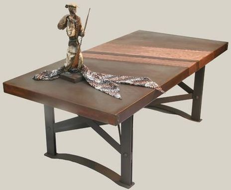 Custom Made Copper Coffee Table