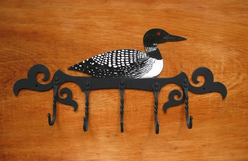 Custom Made Handcrafted Loon Coat Rack