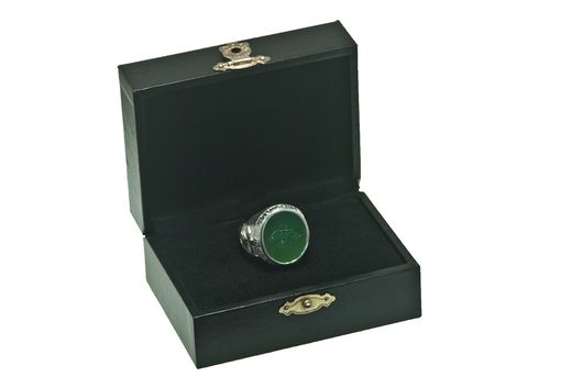 Custom Made Canada Jade Family Crest Heritage Ring