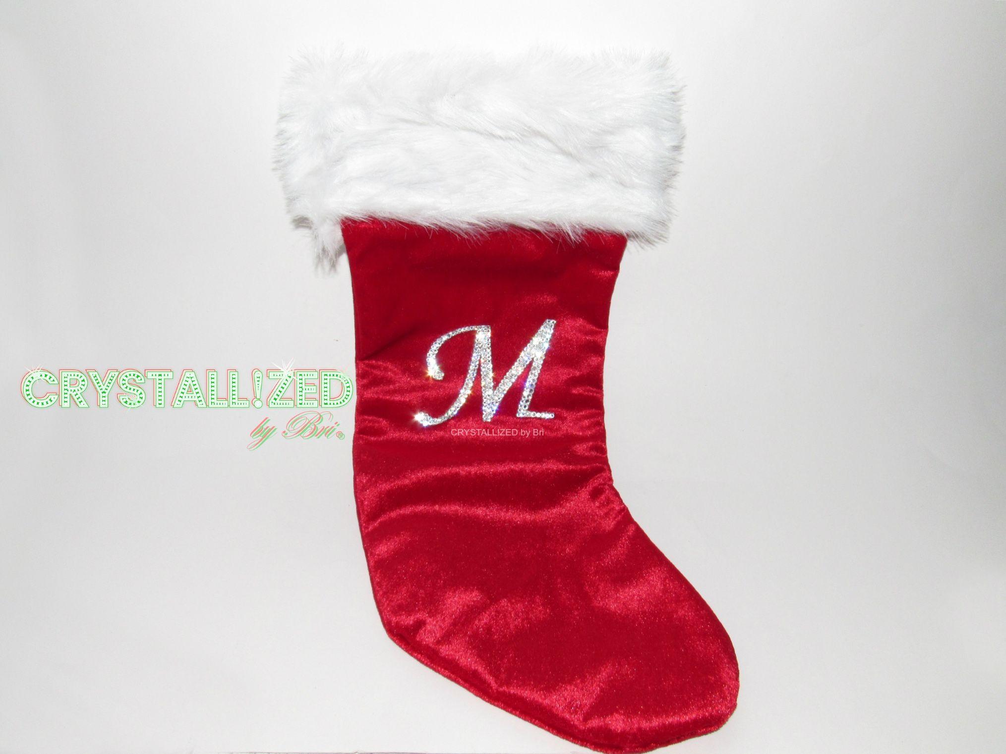 Buy Custom Crystallized Monogram Christmas Stocking Made With ...
