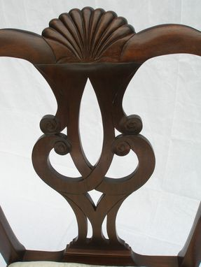Custom Made Walnut Philadelphia Chippendale Arm Chair - Custom Made And Hand Carved