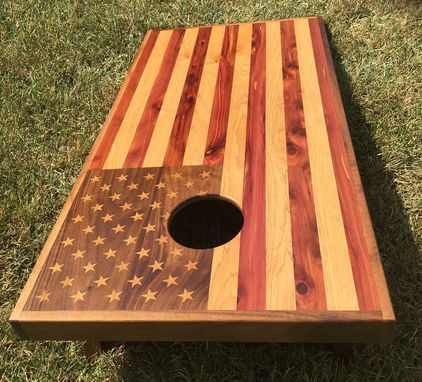 Custom Made Us And Texas Corn Hole Boards