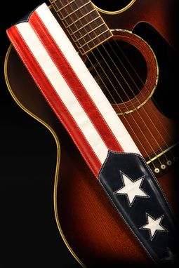 Custom Made Old Glory Guitar Strap
