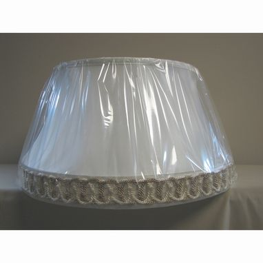Custom Made Large Vintage Floor Lampshade Recover