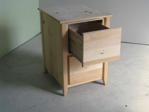Custom Made 2 Drawer Wooden File Cabinet