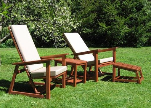 Custom Made Outdoor Chair Set, Cascadia Morris Chair