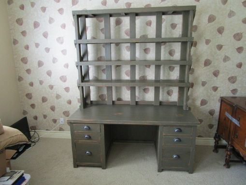 Custom Made Reclaime Wood Desk Unit