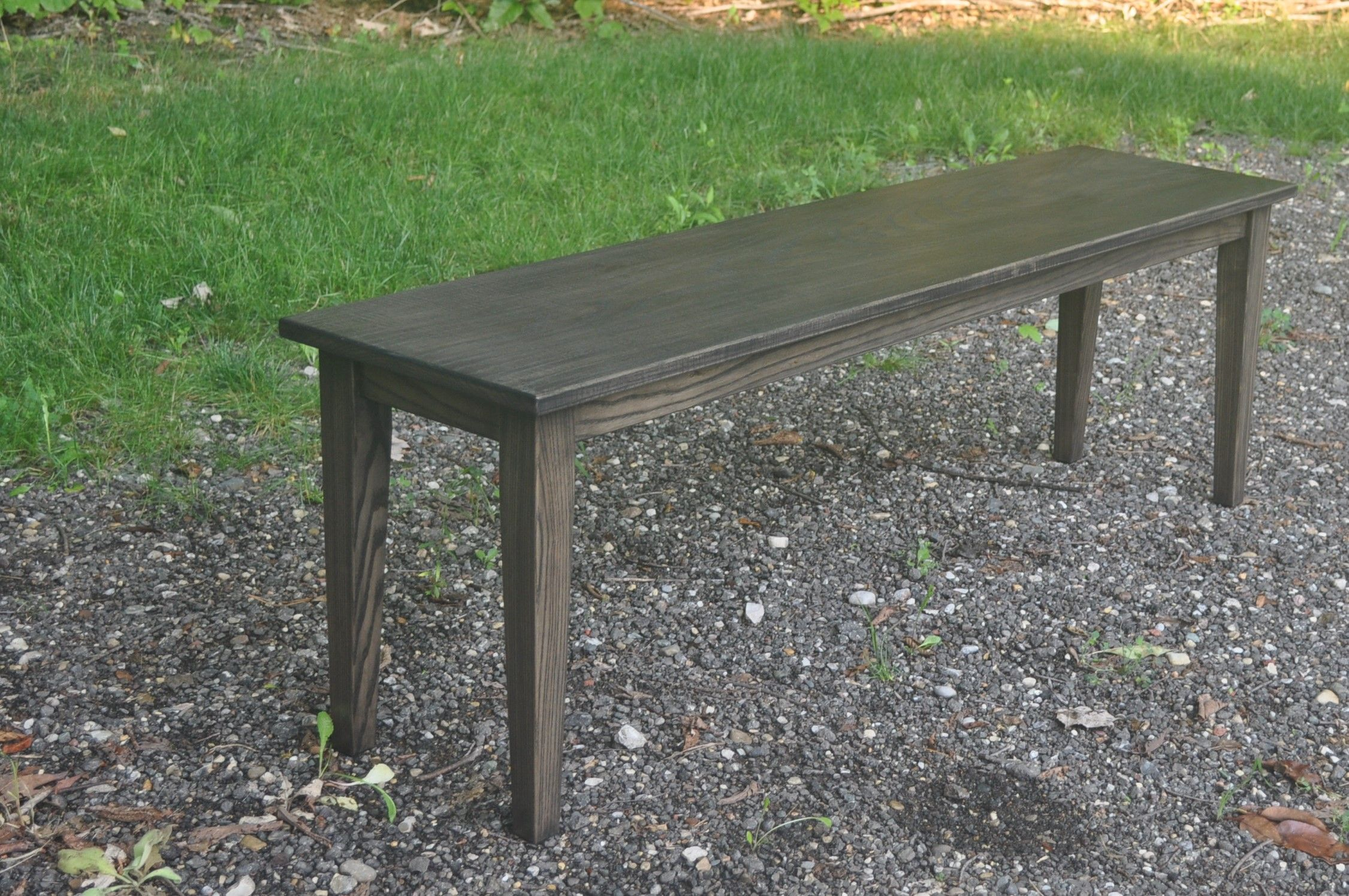 Stupendous Handmade Stained Ash Dining Table Bench Seat By Glessboards Download Free Architecture Designs Rallybritishbridgeorg