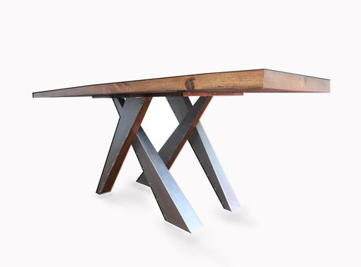 Custom Made Modern Metal Legs Table