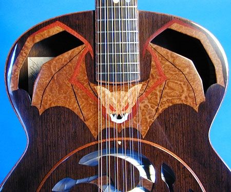 Custom Made Bat Out Of Hell 12 String Resonator Guitar