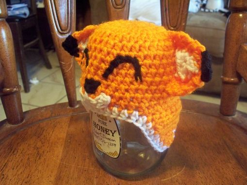 Custom Made Handmade Crochet Fox Hat, Baby, Child Beanie