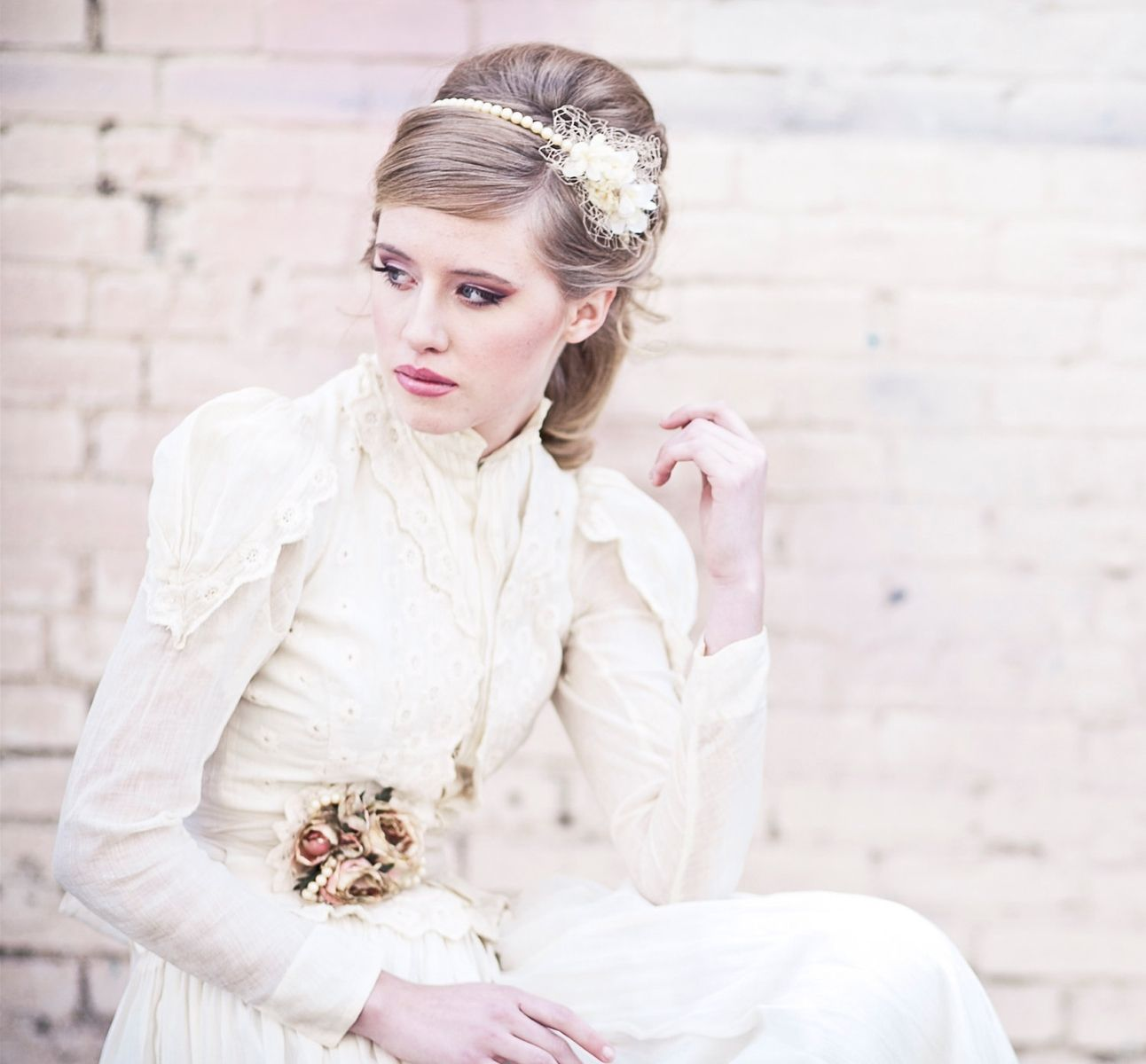 Hand Made Wedding Hair- Vintage Romance Pearl Headband, Wedding ...