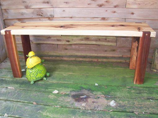 Buy A Hand Made Handmade Hickory Slab And Walnut Bench