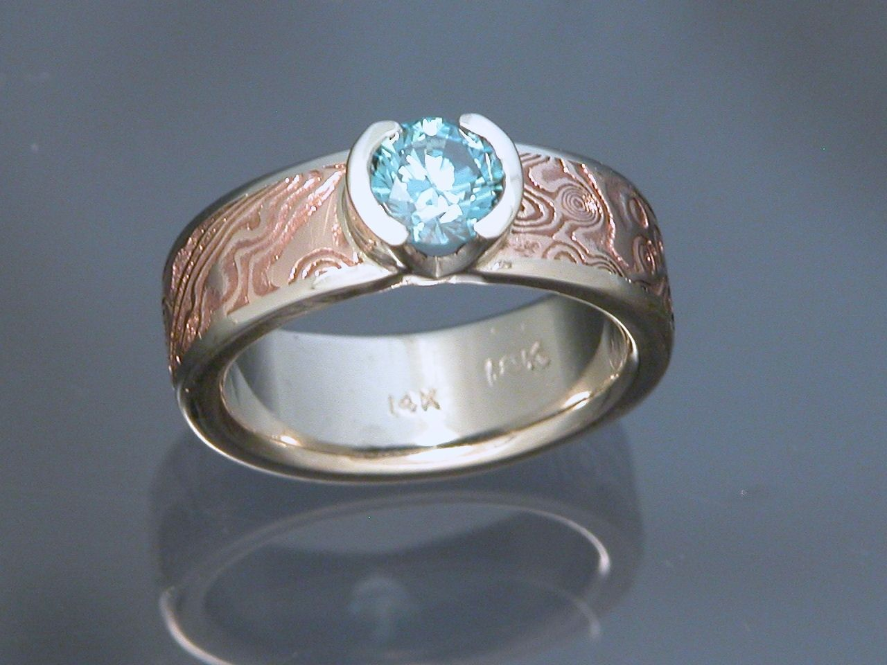 size white band wedding rw products rings copper gold rs mokume ring silver gane