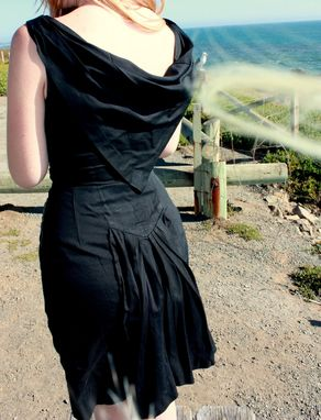 Custom Made Custom Made For You 1950s Vintage Style Fishtail And Cape Cotton Dress