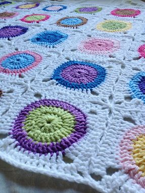 Custom Made Babylove Brand Petite Circles Blanket